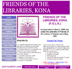 Friends of the Library, Kona website